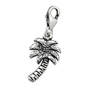 Palm Tree - 925 Sterling Silver Charms With Lobster - W30281x
