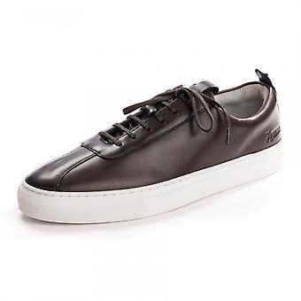 Grenson Grenson Sneaker 1 Handpainted Brown Mens Trainer