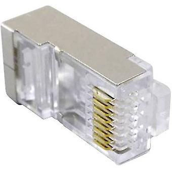 Fiche modulaire entièrement blindé CAT 5e prise, droite Transparent BKL électronique 143041 1 PC (s)