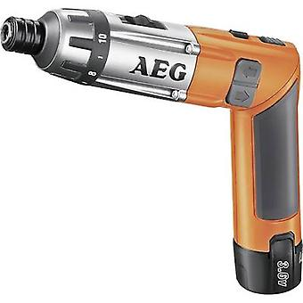 AEG Powertools SE 3,6 Cordless bendable screwdriver 3.6 V 1.5 Ah Li-ion incl. spare battery, incl. case