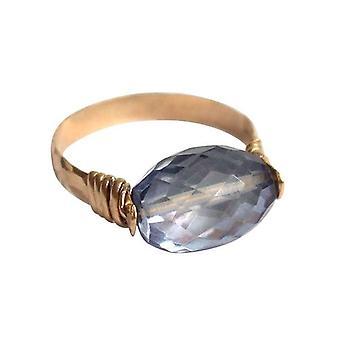 Gemshine - kvinder - ring-pull ring - forgyldt - ametyst - blå