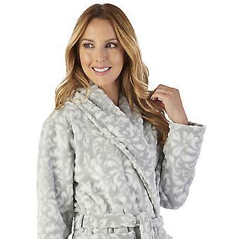 Slenderella HC2351 ženy ' s luxusným fleece motívom župan loungewear kúpeľňové šaty
