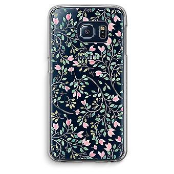 Samsung Galaxy S6 bordo trasparente custodia (Soft) - fiori delicati
