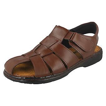 Mens Moza-x Closed Toe Leather Sandals B-207814