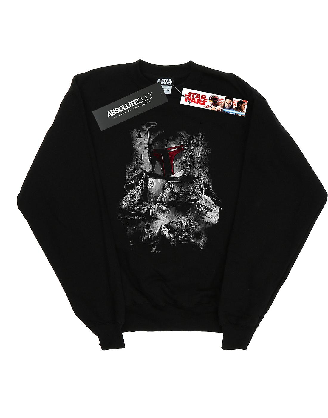 Star Wars Boys Boba Fett Distressed Sweatshirt