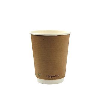 Vegware Compostable Kraft Double Wall Hot Cups 12oz