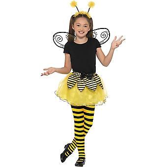 طقم نحلة، وأجنحة توتو & عقال، الحيوان ملابس تنكرية للأطفال، في سن 7-9