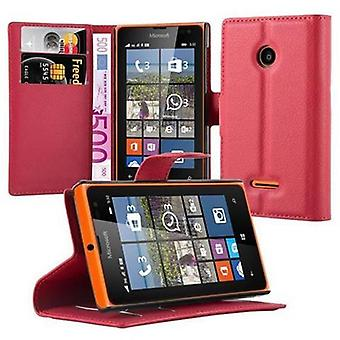 Cadorabo Case for Nokia Lumia 532 Case Cover - Phone Case with Magnetic Closure, Stand Function and Card Case Compartment - Case Cover Case Case Case Case Book Folding Style