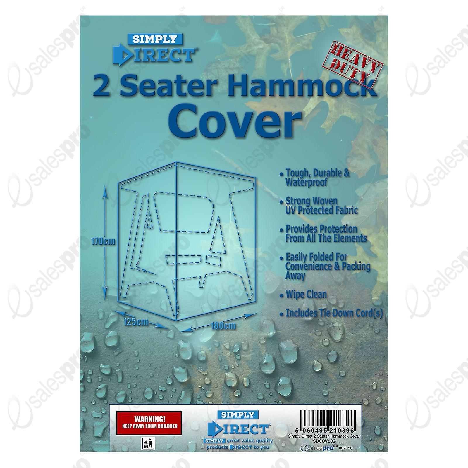 Simply Direct 2 Seater Hammock Cover - Waterproof Weatherproof Furniture Protector