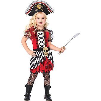 Mooi meisje piraat kostuum