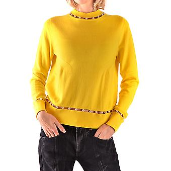 Givenchy Ezbc010015 Women's Yellow Wool Sweater