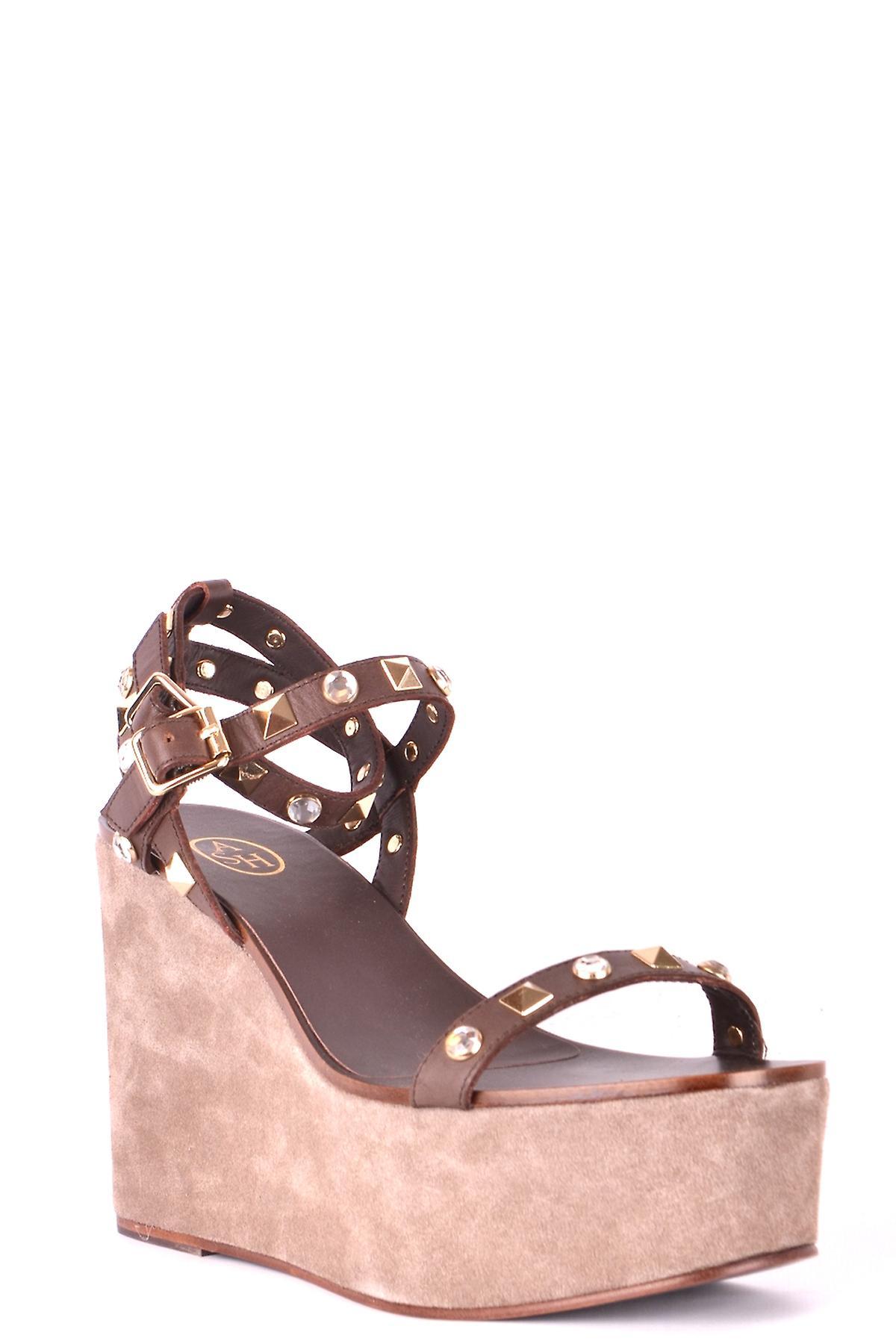 Ash Ezbc125004 Dames's Brown Leather Sandalen s2kRK8