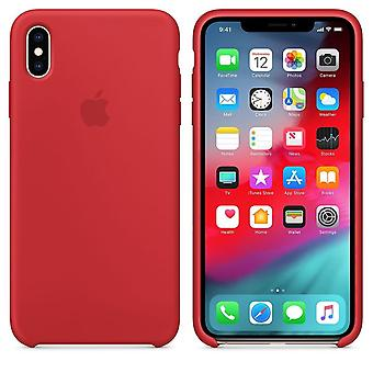 Original Packed Apple Silicone Microfiber Cover Cover Case for iPhone XS Max - Red