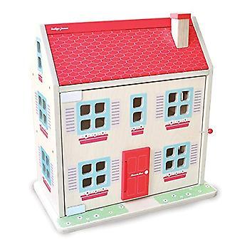 Indigo jamm puinen Hascombe Dolls House-13 Piece huone kalut Set ja 2 puiset ihmiset