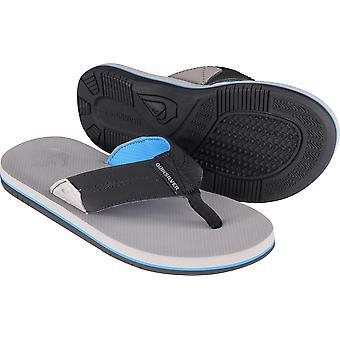 Quiksilver Mens Oasis côtière II occasionnels les sandales de plage - gris/noir/bleu