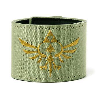 Nintendo Zelda Crest Green Canvas Wristband