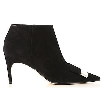 Sergio Rossi A80000mcaz011000 Women-apos;s Black Suede Ankle Boots