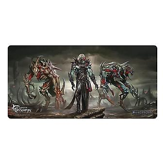 Requin blanc TMP-111 1375x675mm Phageborn Gaming Mousepad noir/gris CORRUPTION