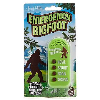 Archie McPhee Emergency Bigfoot Button