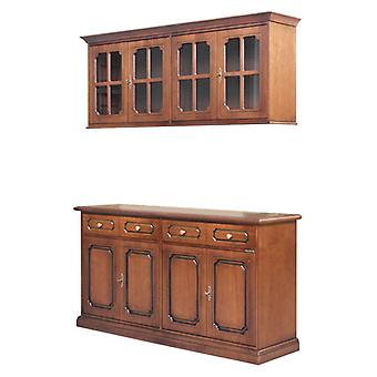 Cupboard with wall unit