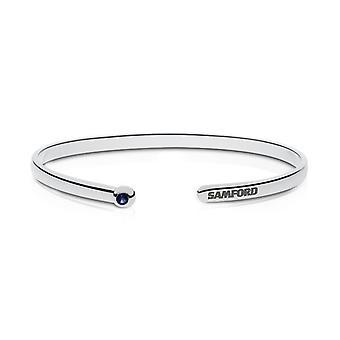 Samford University Engraved Sterling Silver Sapphire Cuff Bracelet
