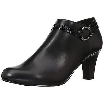 Easy Street mulheres Jem couro fechado Toe tornozelo moda botas