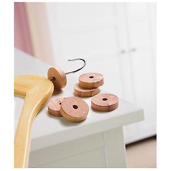 Russel Cedar Wood Wardrobe Rings, Pack of 6