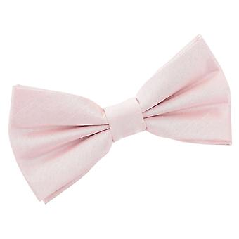 Blush Pink Plain Shantung Pre-Tied Bow Tie