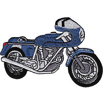 Patch - Automoblies - Blue Cafe Racer Iron On Gifts New Licensed p-3859
