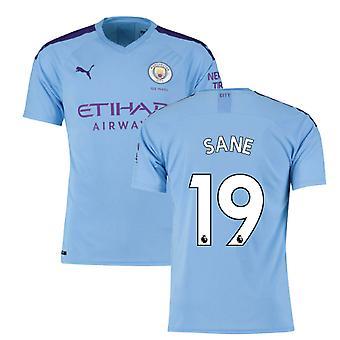 2019-2020 Manchester City Puma Home Camiseta de Fútbol (SANE 19)