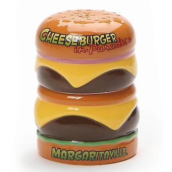 Welcome to Margaritaville Cheeseburger Salt and Pepper Licensed Stoneware