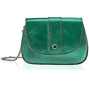 Chicca Bags 1615 Women's shoulder bag (Green) 19x14x8 cm (W x H x L)