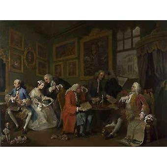 Marriage a la Mode i The Marriage, William Hogarth, 50x38cm