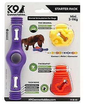 K9 Connectables cão plástico Starter Pack (3 peças)