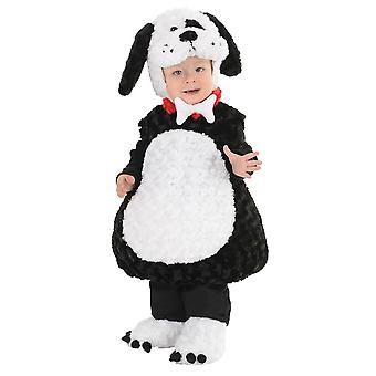 Black White Puppy Costume for toddlers