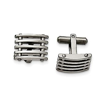 Stainless Steel Brushed Cuff Links Jewelry Gifts for Men