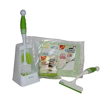 Bentley Green und sauberes Badezimmer 4 Stück Reinigung Toilettenbürste & Halter Set