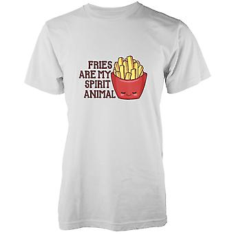 Kawaii Fries Are My Spirit Animal White T-Shirt