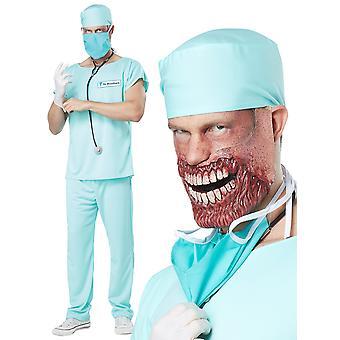 الدكتور حمام دم غيبوبة الطبيب الدعك الجراح المشي الميت الرعب الرجال زي
