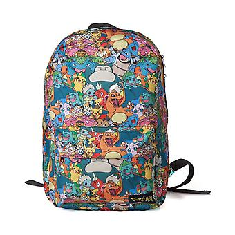 Pokemon Characters All Over Printed Backpack Multi-Colour (BP060805POK)