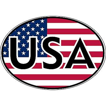 Sticker Sticker Car Moto Oval Flag USA USA America