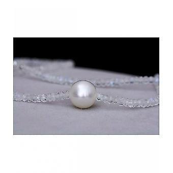Luna-Pearls Gemstone Necklace with Breeding Pearl 2311