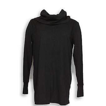 Anybody Women's Top Cozy Knit Waffle Black A293072