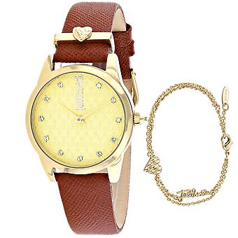 Just Cavalli Women's Vale Gold Dial Watch - JC1L010L0525