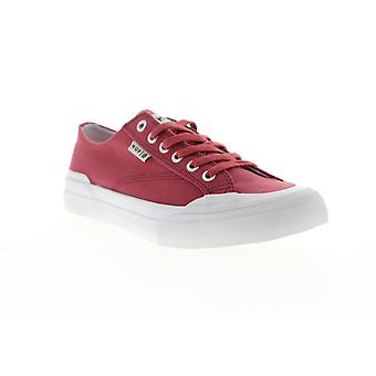 HUF Classic LO ESS TX  Mens Red Canvas Low Top Athletic Skate Shoes