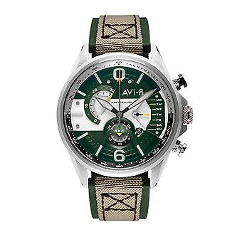 AVI-8 AV-4056-02 Hawker Harrier II Green Dial Wristwatch