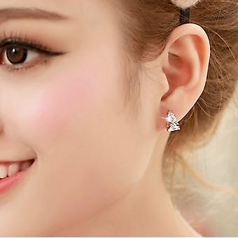 Guardian angel hoop crystal earrings