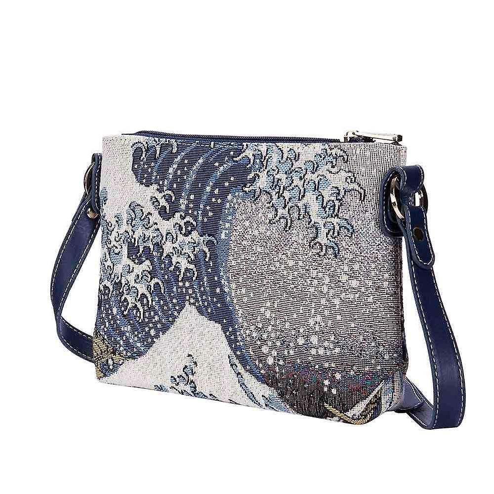 Hokusai - the great wave shoulder cross body bag by signare tapestry / xb02-art-jp-wave