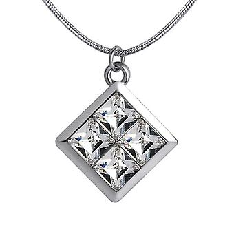 18k white-gold plated venus necklace