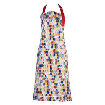 Multi Colour Postage Stamp Chef Apron - Stamp Collection